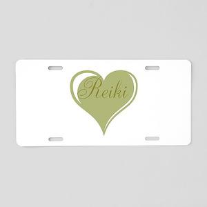 Reiki Green Heart Aluminum License Plate