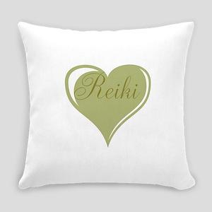 Reiki Green Heart Everyday Pillow