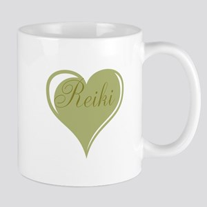 Reiki Green Heart Mugs