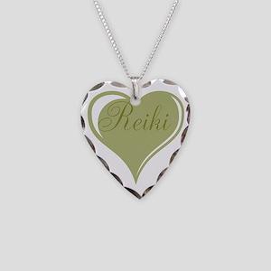 Reiki Green Heart Necklace