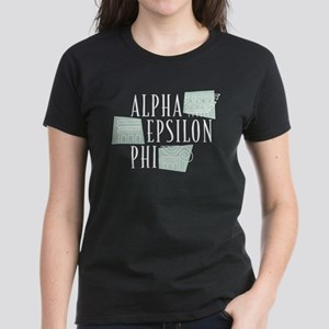 Alpha Epsilon Phi Logo Women's Dark T-Shirt