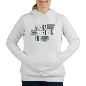 Alpha Epsilon Phi Logo Women's Hooded Sweatshirt