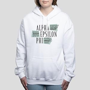 Alpha Epsilon Phi Logo Women's Hooded Sweatshirt