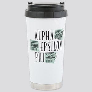 Alpha Epsilon Phi Logo Stainless Steel Travel Mug