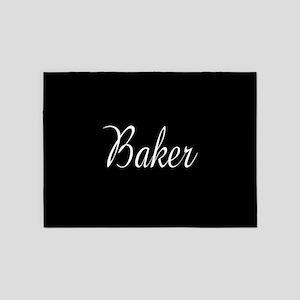 Culinary: Baker (Cursive) 5'x7'Area Rug