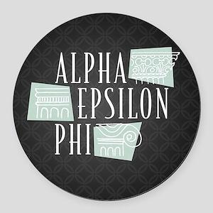 Alpha Epsilon Phi Logo Pattern Round Car Magnet