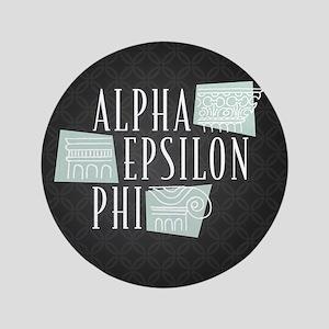 Alpha Epsilon Phi Logo Pattern Button