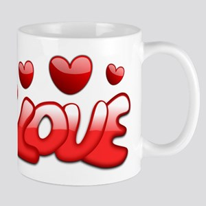 Love Hearts Valentines Day Romantic Mugs