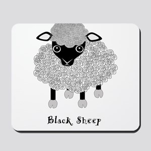 Black Sheep with label Mousepad