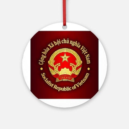 Vietnam Emblem Round Ornament