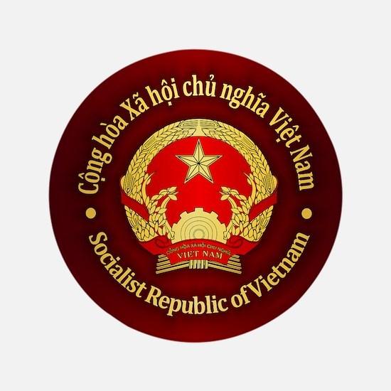 Vietnam Emblem Button