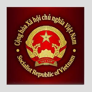 Vietnam Emblem Tile Coaster