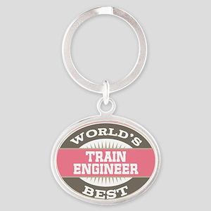 train engineer Oval Keychain