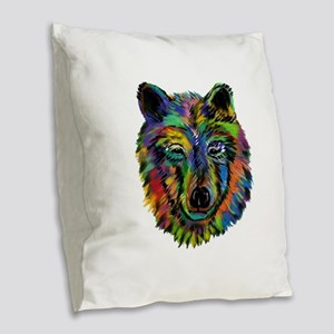 STARE Burlap Throw Pillow