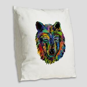 STARE Burlap Throw Pillow