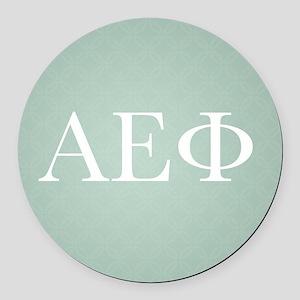 Alpha Epsilon Phi Letters Pattern Round Car Magnet