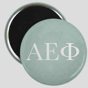Alpha Epsilon Phi Letters Pattern White Magnet