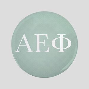 Alpha Epsilon Phi Letters Pattern White Button