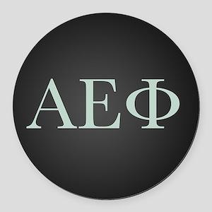 Alpha Epsilon Phi Letters Round Car Magnet
