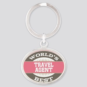 travel agent Oval Keychain