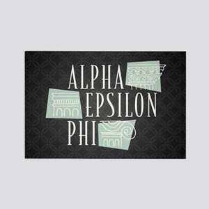 Alpha Epsilon Phi Logo Pattern Rectangle Magnet