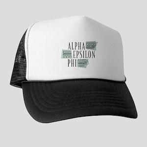 Alpha Epsilon Phi Logo Trucker Hat