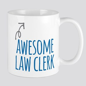 Awesome law clerk Mugs