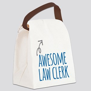 Awesome law clerk Canvas Lunch Bag