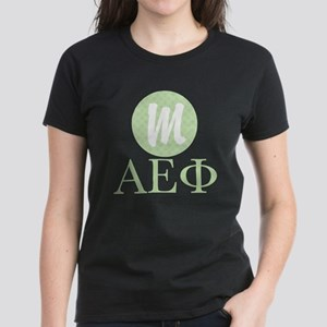Alpha Epsilon Phi Monogram Women's Dark T-Shirt