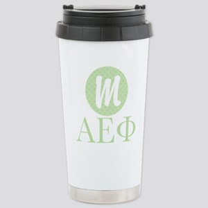 Alpha Epsilon Phi Monog Stainless Steel Travel Mug