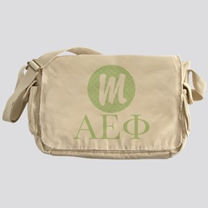 Alpha Epsilon Phi Monogram Messenger Bag