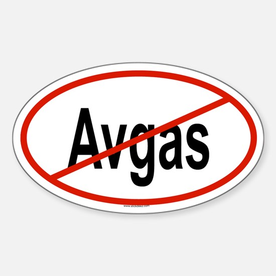 AVGAS Oval Decal