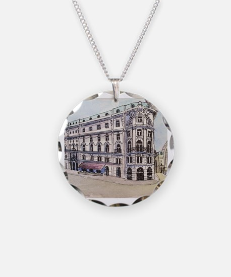Cute Viennese Necklace Circle Charm