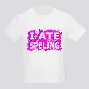 I Ate Speling (Ink Spots) (Pink) T-Shirt