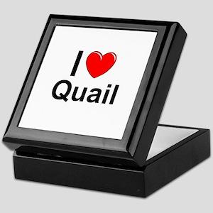 Quail Keepsake Box