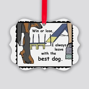 The Best Beauceron Picture Ornament