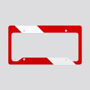 Diving: Diving Flag License Plate Holder