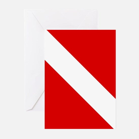 Diving: Diving Flag Greeting Cards