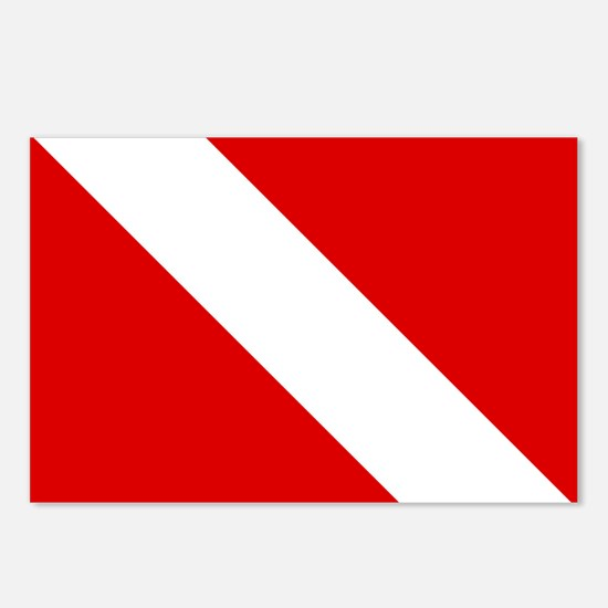 Diving: Diving Flag Postcards (Package of 8)