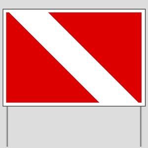 Diving: Diving Flag Yard Sign