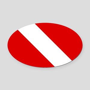 Diving: Diving Flag Oval Car Magnet