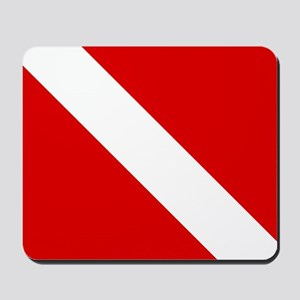 Diving: Diving Flag Mousepad
