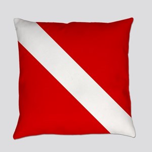 Diving: Diving Flag Everyday Pillow