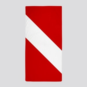 Diving: Diving Flag Beach Towel