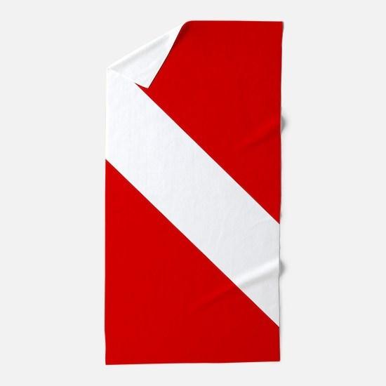 Diving: Diving Flag Beach Towel