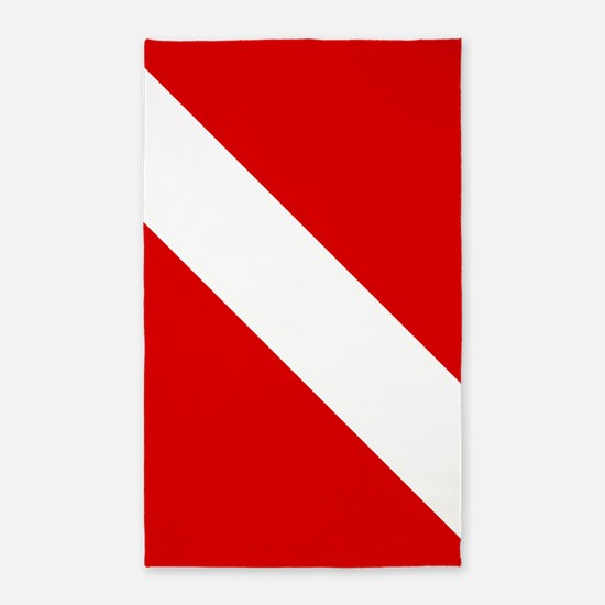 Diving: Diving Flag Area Rug
