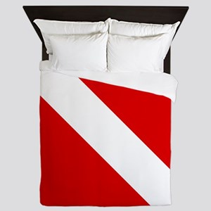 Diving: Diving Flag Queen Duvet