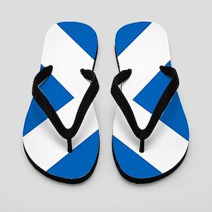 Scotland: Scottish Flag (Saltire) Flip Flops
