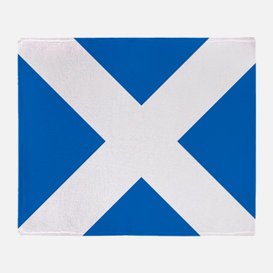 Scotland: Scottish Flag (Saltire) Throw Blanket