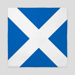 Scotland: Scottish Flag (Saltire) Queen Duvet